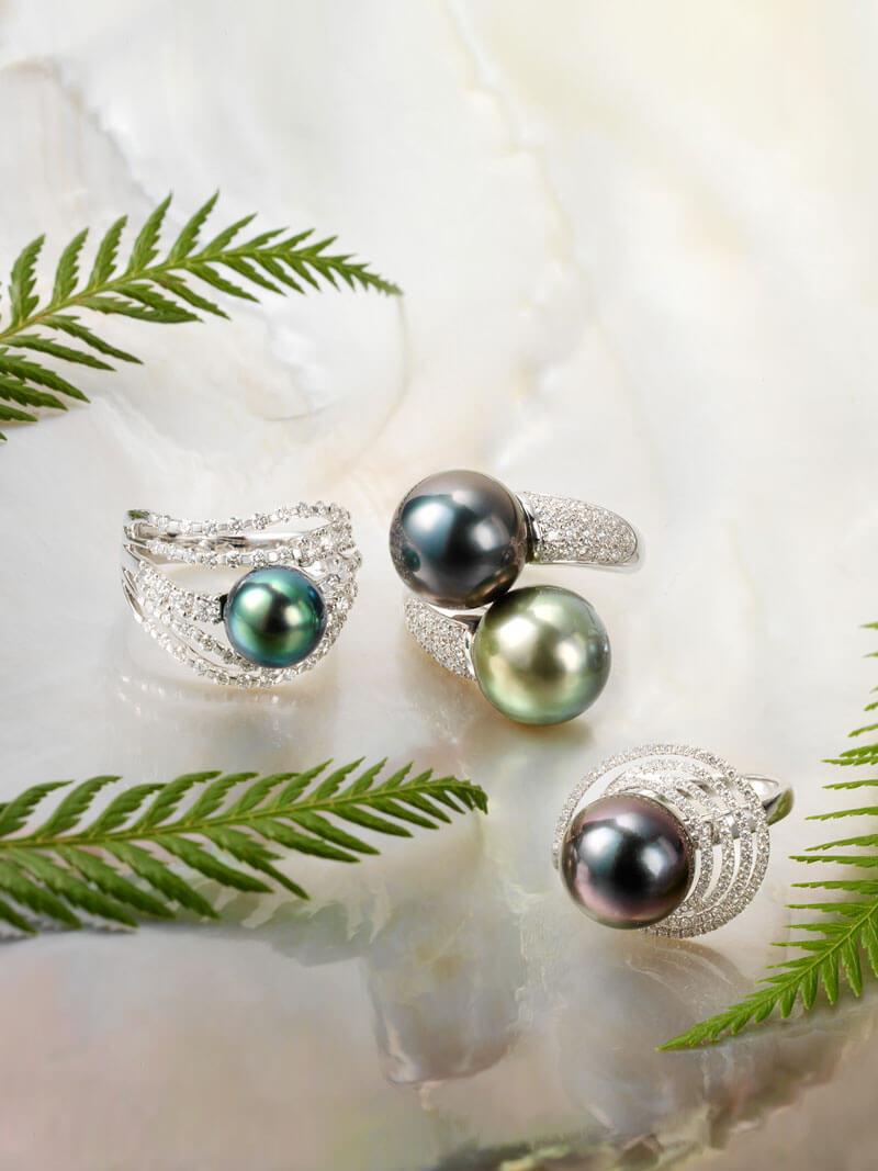 Perles de Tahiti - 3 bagues