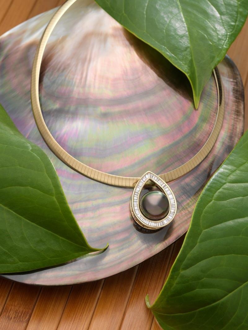 perle de tahiti pendentif