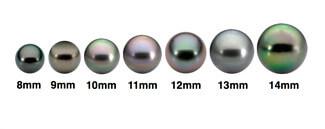 Différentes tailles perles