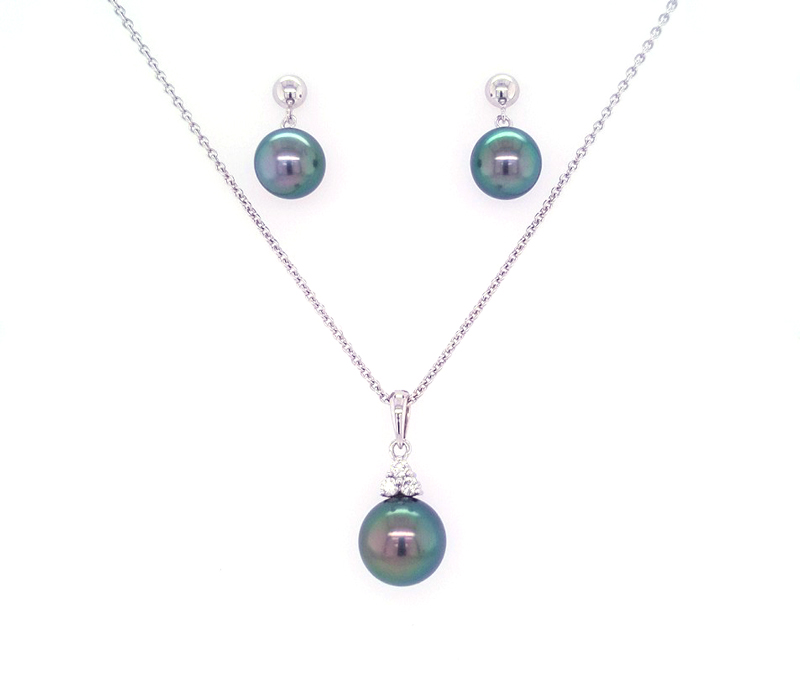 White Gold Pendant or set