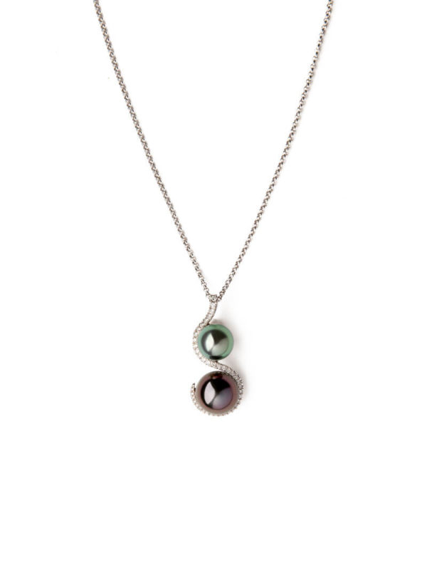 Black Pearls necklace - Nous Deux Collection from Tahia Pearls